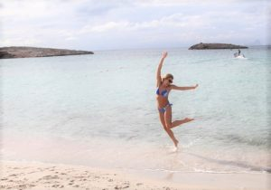 Jumping for joy in Formentera