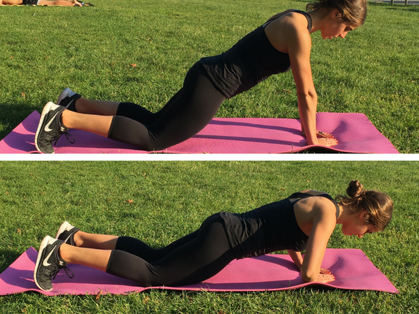 triangle push up in motion