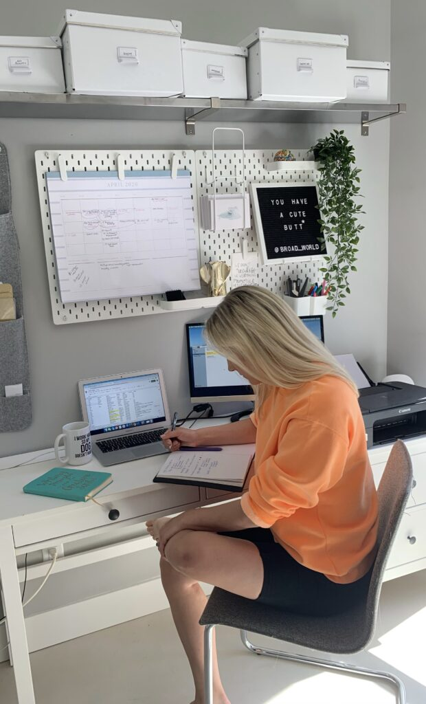 Stefanie McAuley from Broad World in her home office